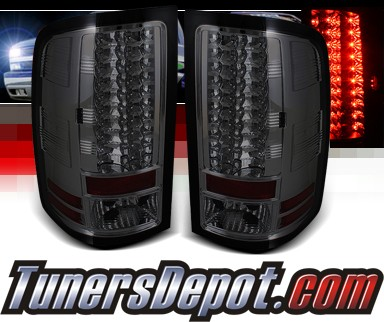 Sonar® LED Tail Lights (Smoke) - 07-12 GMC Sierra (Exc. Denali)