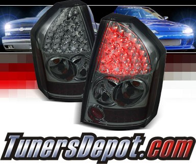 Sonar® LED Tail Lights (Smoke) - 08-10 Chrysler 300C