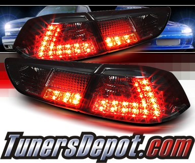 Sonar® LED Tail Lights (Smoke) - 08-12 Mitsubishi Lancer 4dr (Exc. Wagon)