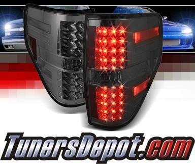 Sonar® LED Tail Lights (Smoke) - 09-13 Ford F150 F-150