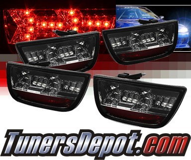 Sonar® LED Tail Lights (Smoke) - 10-12 Chevy Camaro