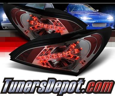 Sonar Led Tail Lights Smoke 10 12 Hyundai Genesis 2dr Alt Yd Hygen09 Sm