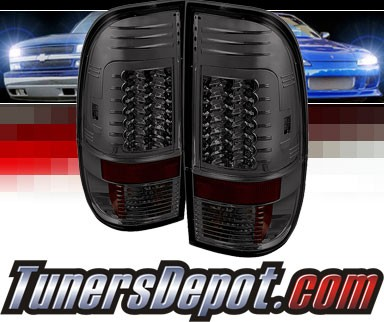 Sonar® LED Tail Lights (Smoke) - 99-07 Ford F-450 F450 (Gen 2)