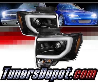 Sonar® Light Bar DRL Projector Headlights (Black) - 09-14 Ford F150 F-150