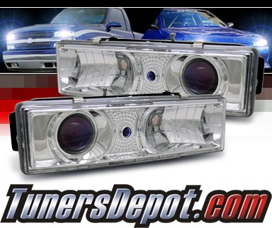 Sonar® Projector Headlights (Chrome) - 94-99 Chevy Suburban