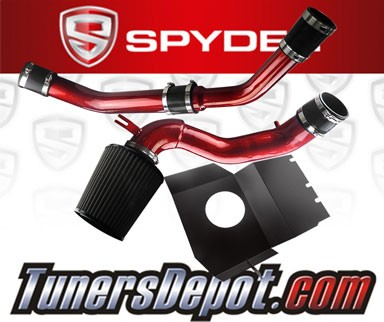 Spyder® Cold Air Intake System (Red) - 08-15 Mitsubishi Lancer Turbo 2.0L 4cyl Evolution X Evo 10 (With Upper Intercooler Piping)