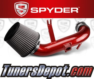 Spyder® Cold Air Intake System (Red) - 09-15 Mitsubishi Lancer 2.4L 4cyl Non-Turbo (AUTOMATIC TRANSMISSION ONLY)