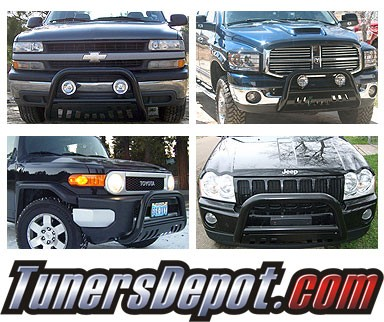 Spyder® Front Bumper Push Bull Bar (Black) - 01-06 Chevy Silverado 1500 HD/2500 HD/3500