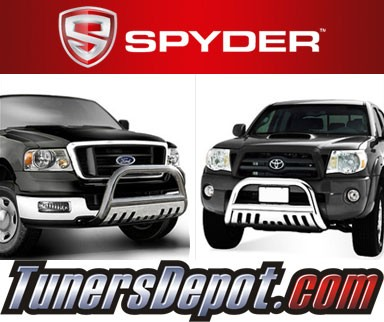 Spyder® Front Bumper Push Bull Bar (Stainless) - 01-06 Chevy Silverado 1500 HD/2500 HD/3500