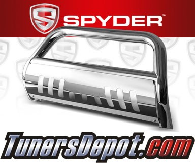 Spyder® Front Bumper Push Bull Bar (Stainless) - 02-06 Chevy Avalanche 2500