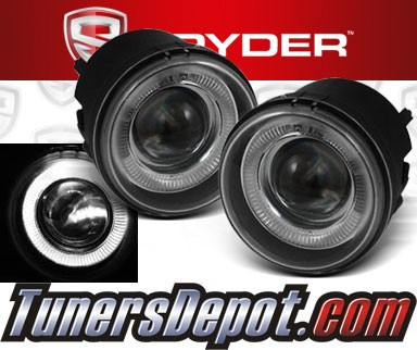 Spyder® Halo Projector Fog Lights (Clear) - 08-10 Chrysler Sebring Convertible
