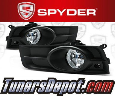 spyder oem fog lights clear 11 12 chevy cruze new. Black Bedroom Furniture Sets. Home Design Ideas