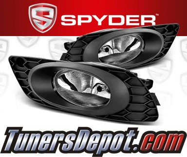 Spyder® OEM Fog Lights (Clear) - 2012 Honda Civic 4dr (Factory Style)