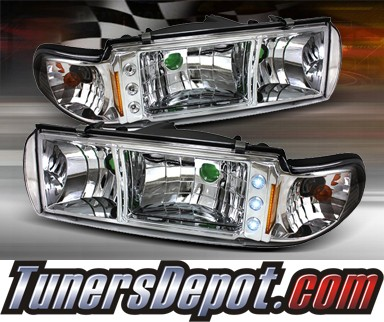 TD® 1 pc LED Crystal Headlights - 91-96 Chevy Impala