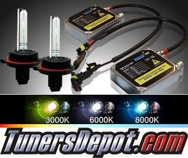 TD® 6000K Xenon HID Kit (Low Beam) - 09-11 Ford Econoline Van w/Replaceable Bulbs (H13/9008)