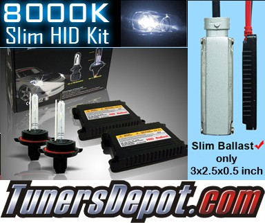 TD® 8000K HID Slim Ballast Kit (Fog Lights) - 02-05 BMW 745i E65 (H3)