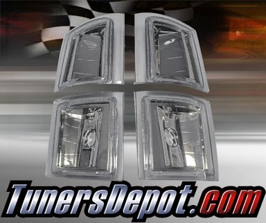 TD® Clear Corner Lights 4pcs (Euro Clear) - 94-98 Chevy Pickup C/K Full Size