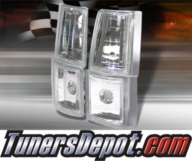 TD® Clear Corner Lights 4pcs (Euro Clear) - 94-98 GMC Pickup C/K Full Size