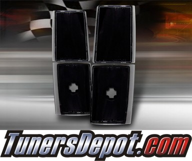 TD® Clear Corner Lights 4pcs (JDM Black) - 88-93 GMC Suburban Full Size