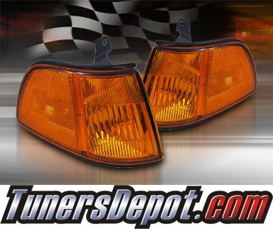 TD® Clear Corner Lights (Amber) - 90-91 Honda Civic 3dr