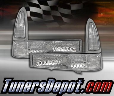 TD® Clear Corner Lights (Clear) - 00-04 Ford F-350 F350 Superduty