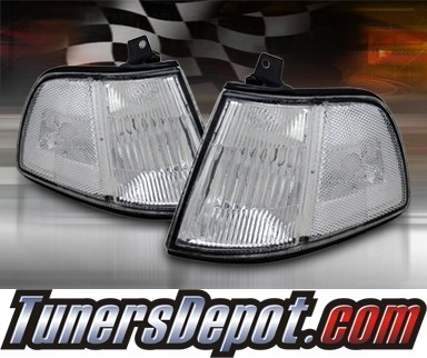 TD® Clear Corner Lights (Clear) - 90-91 Honda Civic 3dr