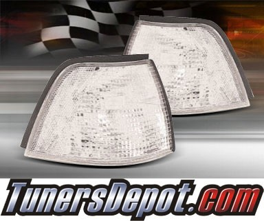 TD® Clear Corner Lights (Clear) - 92-98 BMW 325i 4dr E36