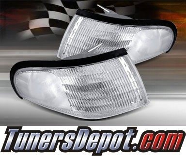 TD® Clear Corner Lights (Clear) - 94-98 Ford Mustang
