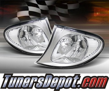 TD® Clear Corner Lights (Euro) - 02-05 BMW 328i 4dr E46