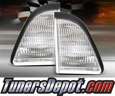 TD® Clear Corner Lights (Euro Clear) - 87-93 Ford Mustang