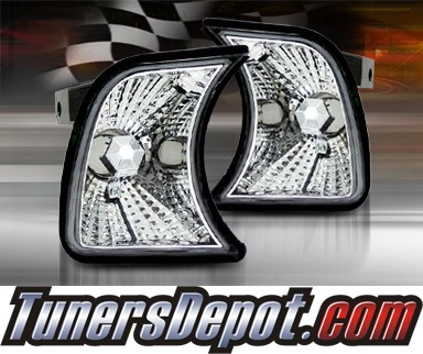 TD® Clear Corner Lights (Euro Clear) - 88-96 BMW 535i E34