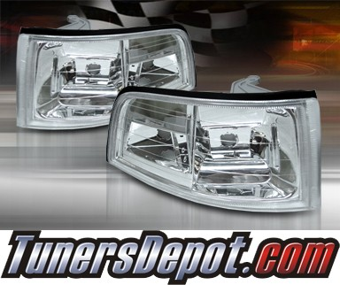 TD® Clear Corner Lights (Euro Clear) - 91-95 Acura Legend Coupe 2dr
