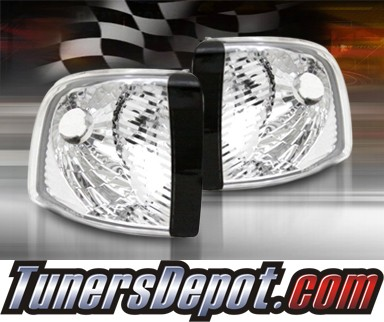 TD® Clear Corner Lights (Euro Clear) - 94-01 Dodge Ram 1500 Pickup (Exc. 99-01 Sport)
