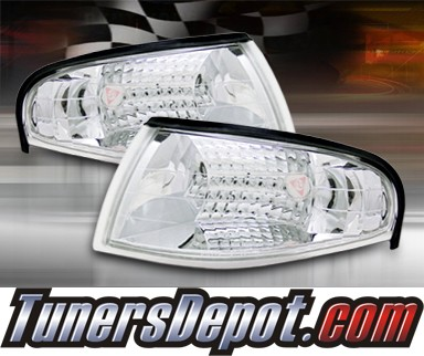 TD® Clear Corner Lights (Euro Clear) - 94-98 Ford Mustang