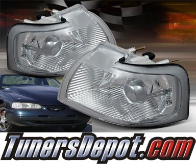 TD® Clear Corner Lights (Euro Clear) - 96-97 Ford Thunderbird