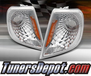 TD® Clear Corner Lights (Euro Clear) - 97-99 Ford F250 F-250 w/ Amber Reflector