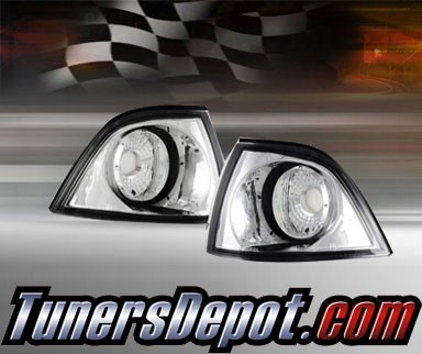TD® Clear Corner Lights G2 (Euro Clear) - 96-99 BMW 328ic 2dr Convertible E36