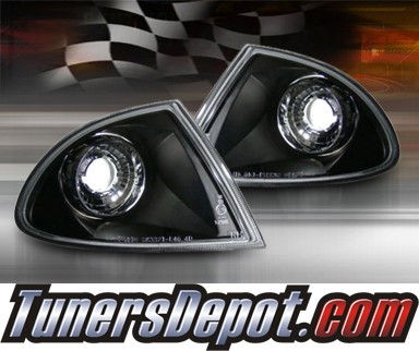 TD® Clear Corner Lights G2 (JDM Black) - 99-01 BMW 330Xi 4dr E46