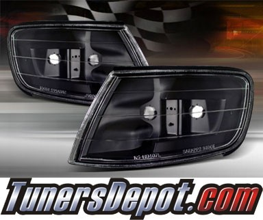TD® Clear Corner Lights (JDM Black) - 94-97 Honda Accord