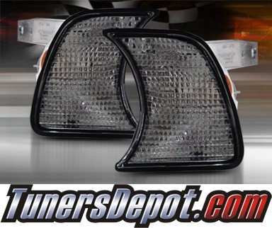 TD® Clear Corner Lights (Smoke) - 88-96 BMW 530i E34