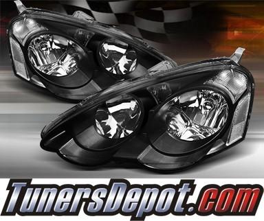 TD Crystal Headlights Black Acura RSX HDJHARSXBK - 2002 acura rsx type s headlights