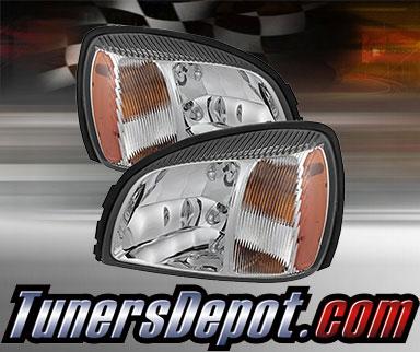 Td Crystal Headlights Chrome 00 05 Cadillac Deville Hd Jh Caddev00 Am C