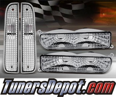 TD® Front Bumper Lights Side Marker Set (Euro) - 97-01 Jeep Cherokee