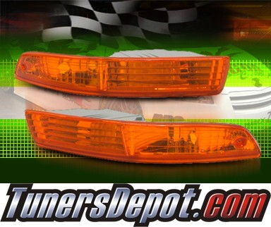 TD® Front Bumper Signal Lights (Amber) - 94-97 Acura Integra (JDM Style)