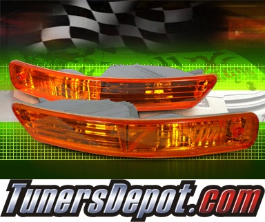 TD® Front Bumper Signal Lights (Amber) - 98-01 Acura Integra (JDM Style)