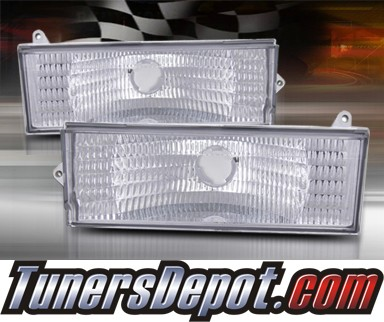TD® Front Bumper Signal Lights (Clear) - 84-96 Jeep Cherokee
