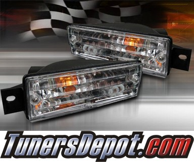 TD® Front Bumper Signal Lights (Clear) - 88-91 BMW 325e E30