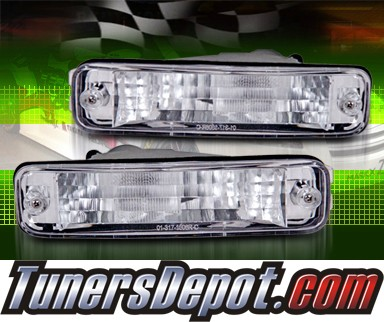 TD® Front Bumper Signal Lights (Clear) - 90-91 Acura Integra