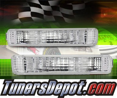 TD® Front Bumper Signal Lights (Clear) - 91-95 Acura Legend 4dr.