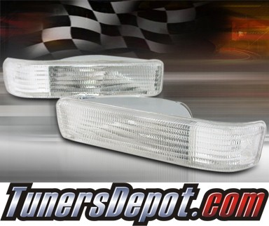 TD® Front Bumper Signal Lights (Clear) - 91-96 Dodge Dakota